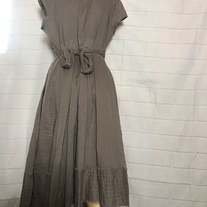 Ted Baker Dresses - Ted Baker Grey/taupe Wrap dress size 4